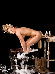Good clean fun with Playmate Kelly Carrington…